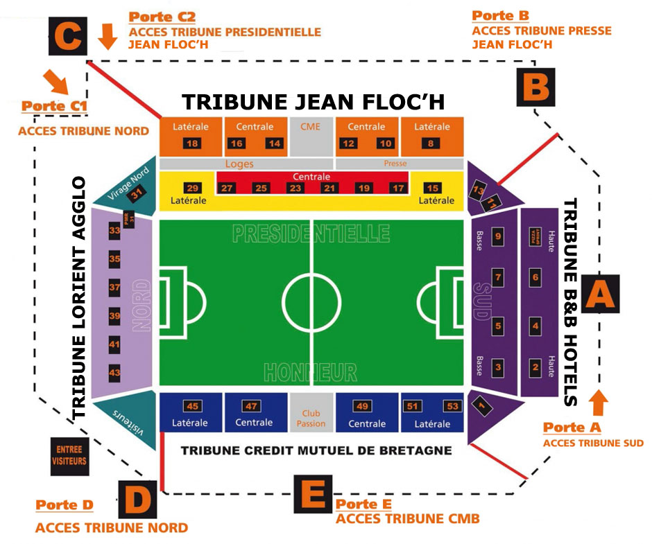 plan Stade Le Moustoir
