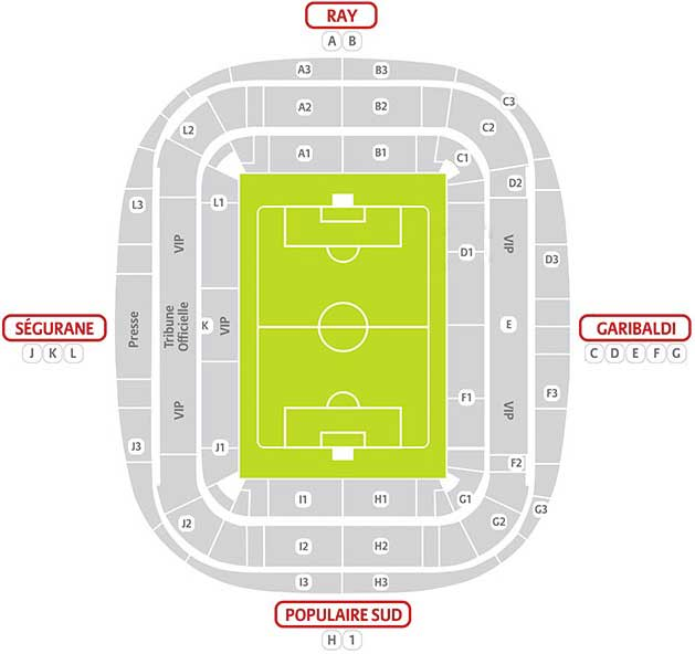 plan Stade Allianz Riviera