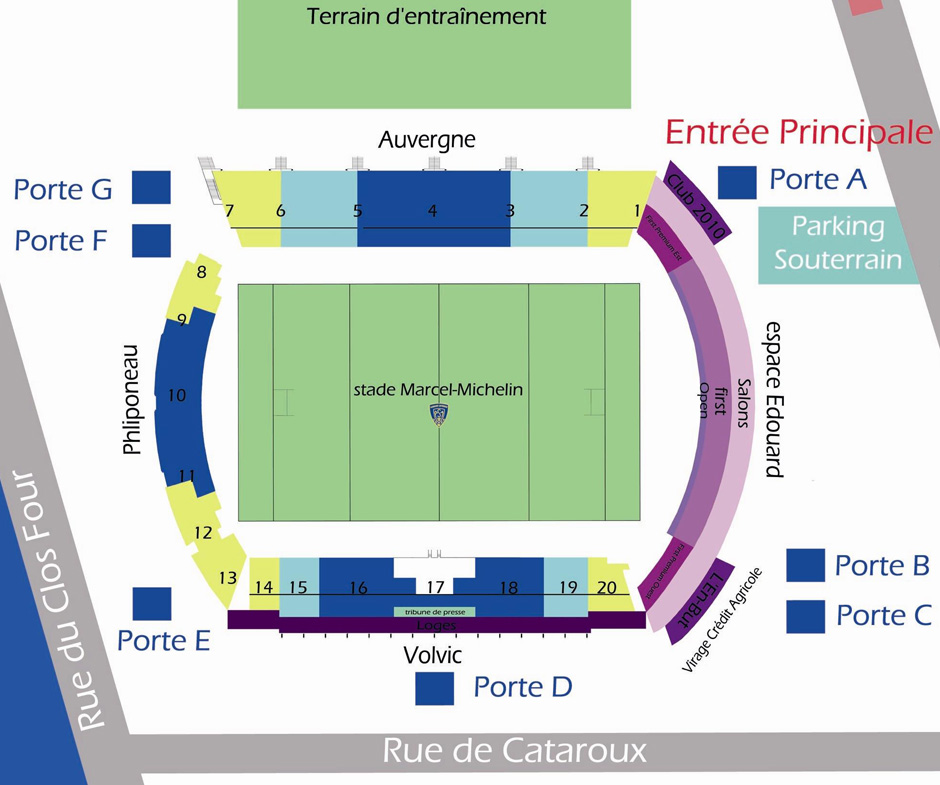 plan Stade Marcel Michelin